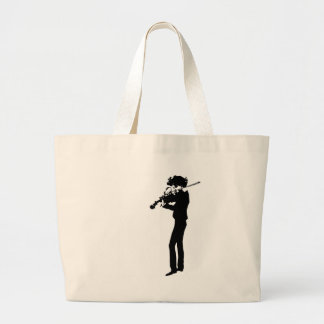 The Violinist Large Tote Bag