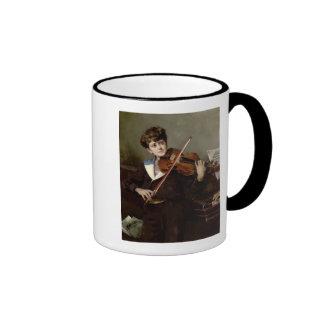 The Violinist Ringer Coffee Mug
