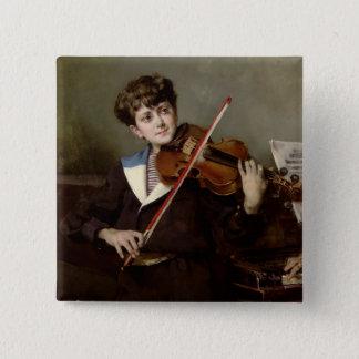 The Violinist Pinback Button