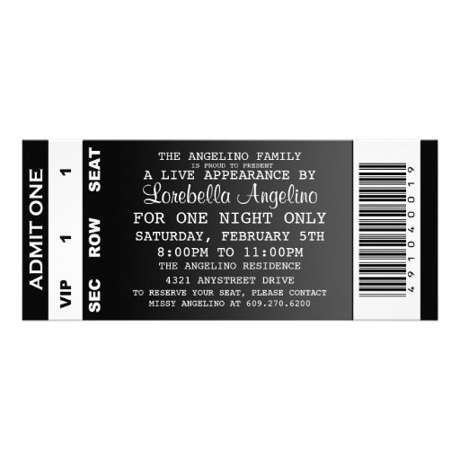 Personalized Birthday party ticket Invitations – Vip Ticket Invitations