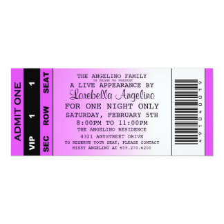 The VIP Ticket Birthday Invitation (Purple)