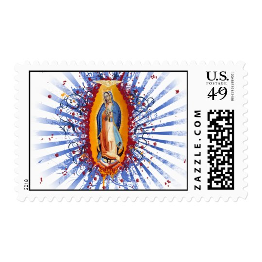 The Virgen de guadalupe! Look closer... it contans Postage
