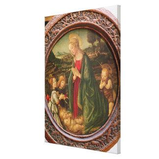 The Virgin Adoring the Christ Child Canvas Print