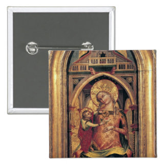 The Virgin and Child, 1372 Pinback Button