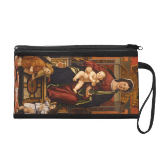 """The Virgin and Child"" accessory bags"