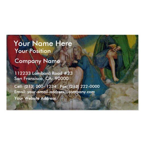 The Virgin And Child And Saints James And Rocco As Double-Sided Standard Business Cards (Pack Of 100)
