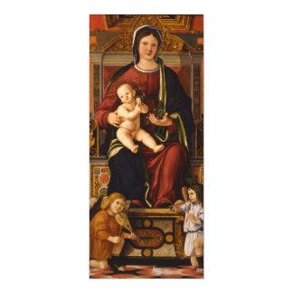 """The Virgin and Child"" art custom invitations"