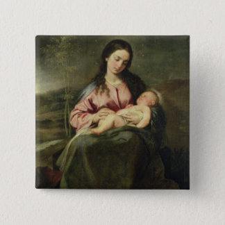 The Virgin and Child Button
