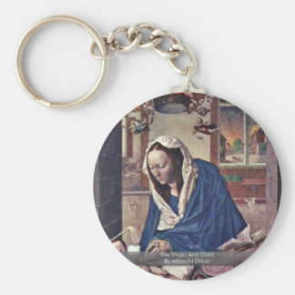 The Virgin And Child By Albrecht Dürer Keychains