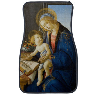 The Virgin and Child by Sandro Botticelli Floor Mat