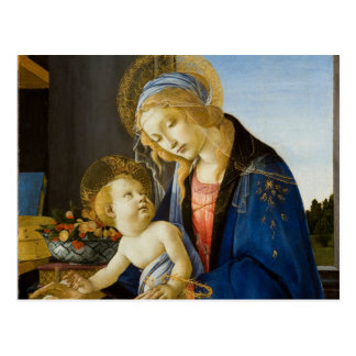 The Virgin and Child by Sandro Botticelli Postcard