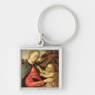 The Virgin and Child  c.1465-70 Silver-Colored Square Keychain