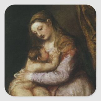The Virgin and Child, c.1570-76 Square Sticker