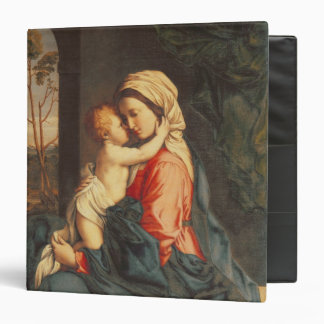 The Virgin and Child Embracing 3 Ring Binder