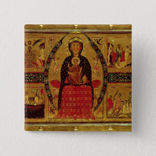 The Virgin and Child Enthroned Button