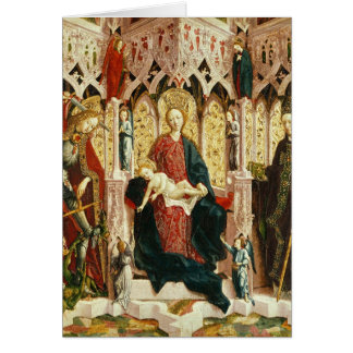The Virgin and Child Enthroned, c.1475 Card