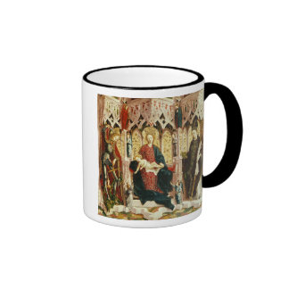 The Virgin and Child Enthroned, c.1475 Ringer Mug