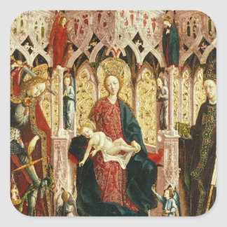 The Virgin and Child Enthroned, c.1475 Square Sticker