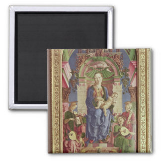 The Virgin and Child Enthroned, mid 1470s 2 Inch Square Magnet