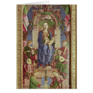 The Virgin and Child Enthroned, mid 1470s Card