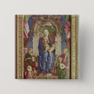 The Virgin and Child Enthroned, mid 1470s Pinback Button