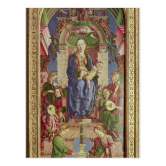 The Virgin and Child Enthroned mid 1470s Postcard