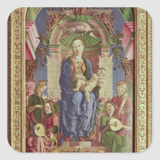 The Virgin and Child Enthroned, mid 1470s Square Sticker