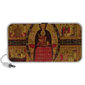 The Virgin and Child Enthroned Mini Speakers