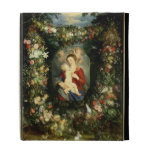 The Virgin and child in a garland of fruit and flo iPad Folio Cover