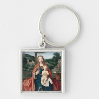 The Virgin and Child in a Landscape Key Chains