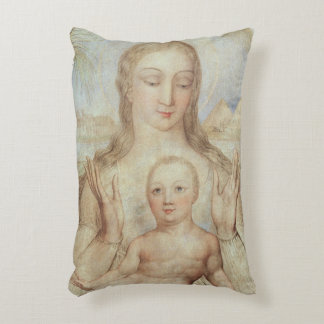 The Virgin and Child in Egypt, 1810 (tempera on pa Accent Pillow