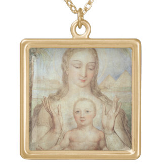 The Virgin and Child in Egypt, 1810 (tempera on pa Gold Plated Necklace