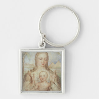 The Virgin and Child in Egypt, 1810 (tempera on pa Keychain