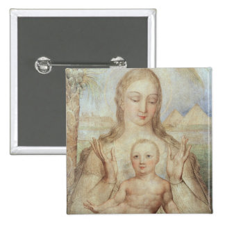 The Virgin and Child in Egypt, 1810 (tempera on pa Pinback Button