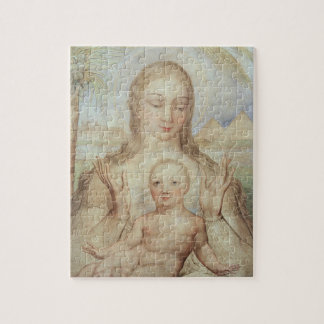 The Virgin and Child in Egypt, 1810 (tempera on pa Puzzle