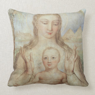The Virgin and Child in Egypt, 1810 (tempera on pa Throw Pillow