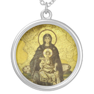 The Virgin and Child Mosaic from the Hagia Sophia Silver Plated Necklace