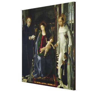 The Virgin and Child (oil) Canvas Print