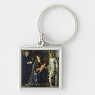 The Virgin and Child (oil) Keychain