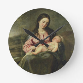 The Virgin and Child Round Clock