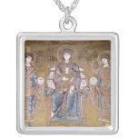 The Virgin and Child Square Pendant Necklace