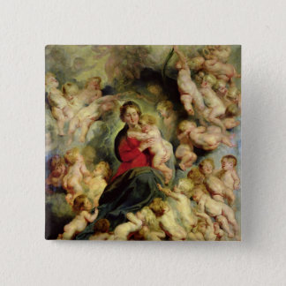 The Virgin and Child surrounded Button