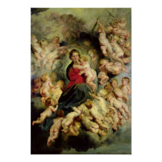 The Virgin and Child surrounded Poster