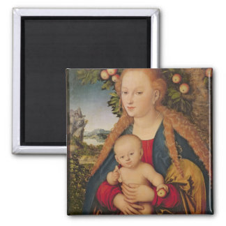 The Virgin and Child under an Apple Tree Magnet