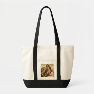The Virgin and Child with a Saint and an Angel, c. Canvas Bag