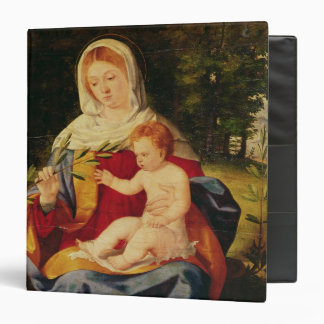The Virgin and Child with a shoot of Olive Binder