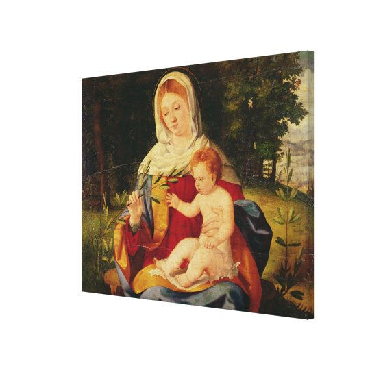 The Virgin and Child with a shoot of Olive Canvas Print