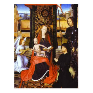 The Virgin and Child with Angel by Hans Memling Postcard