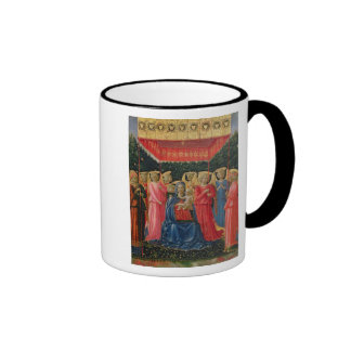 The Virgin and Child with Angels, c.1440-50 Ringer Mug