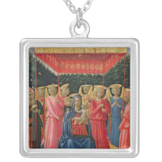 The Virgin and Child with Angels, c.1440-50 Silver Plated Necklace